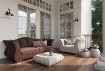 Коллекция мебели из искутсвенного ротанга Blooming garden / Коллекция, которой гордится компания Terrasophy. Blooming garden – «Цветущий сад» (англ.). Уникальной эта коллекция является благодаря своей стилистике. Еще никто не делал мебель из ротанга с использованием классических форм. Рискованное решение оказалось правильным – мебель получилась стильной, роскошной, но в то же время простой и неприхотливой.