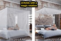 SKYROOM MOSKITO by Movisi / A special mosquito net canopy that opens with a magic rotation.