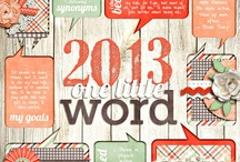 One Little Word - Scrapbooking / One Little Word is the act of choosing one word to focus your goals for the year. Creating a scrapbook for your one little word is even better.