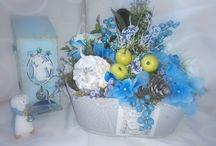 Флористические композиции / Флористические композиции выполнены из искусственных цветов нового поколения из эко силикона