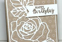 Rose Garden / Cards made using SU Rose Garden thinlit die