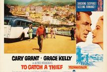 """Hitchcock """"To Catch a Thief"""" #book2movie / To Catch a Thief starring the iconic Cary Grant and Princess Grace Kelly. Based on the book by David Dodge.  http://www.chapter1-take1.com/2015/03/dreaming-of-france-blame-it-on-to-catch.html"""