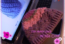 Gorrito Crochet Lila para mi hija ♥
