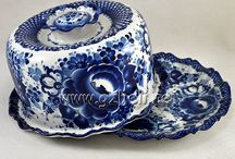 сине-белое чудо / фарфор, керамика, стекло...