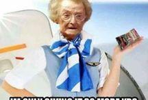 Ilarious flight attendants. / Funny pics of flight attendants and crew.