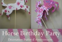 Horse Birthday Inspiration / Great ideas for horse-theme birthday parties.  Chelsea & Savannah can take these ideas and push them a step further to completely customize your child's birthday party.