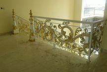 Besi tempa klasik railling tangga