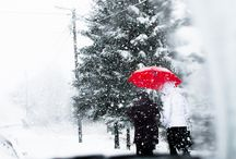 Winter, snow.