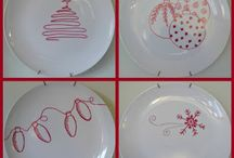 Christmas dishes decorations