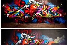 Graffitty / Umění tvořené sprejem. Obrázky,nápisy, a návody. Vzory stylů písma.
