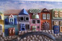 keramiek huisjes