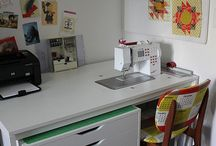 Atelier, sewing room, scraproom