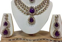 Awesome Latest Bollywood Kundan Party Jewelry Necklace Set