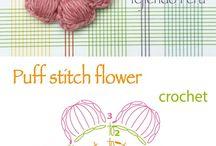 mini flores em croche