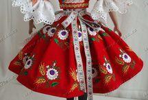 Miniatúry - šaty - ľudové