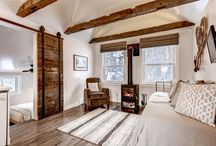 Blackstone Rivers Ranch | Claim Jumper Cabin / The creekside guest cabin at Blackstone Rivers Ranch in Idaho Springs, Colorado.  Available for rent and as a honeymoon suite summer of 2016!
