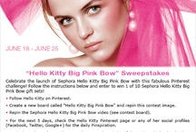 Hello Kitty Big Pink Bow / <3 Lover of fashion, beauty and all things Hello Kitty!  <3 / by Lisa So