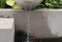 Solus Decor Scupper Water Feature / A nod to historical architectural and nautical forms the Scupper water bowls combine clean edged, mechanically formed metal with smooth, hand cast concrete.