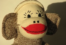 A MONKEY OF A SOCK / Wow!  It started as a pair of work sock and some sweet woman found a way to make a monkey out of them...perhaps for her own child.  And, look how it has blossomed.  Wow! (again) / by Tonja Owens