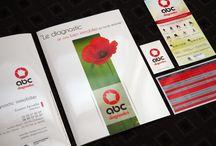 Design imprimé. / Logo, carte de visite, flyer, charte graphique.