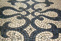 """  Lusa Luso ♥ Calçada Portuguesa   / Au  même titre que le fado, les azulejos ou le vin de Porto, la """"calçada portuguesa"""" (chaussée à la portugaise) s'est imposée comme un symbole culturel. Elle s'est développée au XIXe s. et ses motifs évoquent souvent l'âge d'or des découvertes portugaises et la mer."""