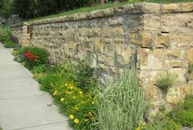Stone Retaining Walls / Natural stone walls have a hand crafted and ancient quality that can never be replaced with man made products