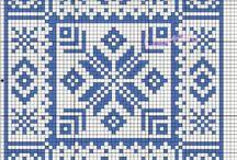 punto croce azulejos