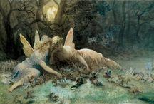 Peintre (Gustave Doré) / Gravure, illustration fables, peinture