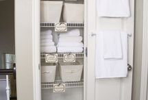 linen and bathroom shelving