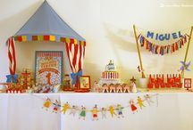 MIGUEL'S CIRCUS (PARTY KIT) / A party entirely designed by Miguel' mom to celebrate his first birthday. The theme was the circus and it added a lot of color to the mix. To complete the elements that she already had, the mom asked us for a party kit, a kit from a distance (http://www.lima-limao.com/p/kits-distancia.html). The photos were provided by Miguel's mother to show us how everything has combined perfectly.