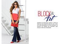 Block & Art / ¡Estamos de aniversario! Celebra 18 años de moda con una colección llena de color. Looks con cortes geométricos en tonos primarios, se mezclan con siluetas muy sensuales, para marcar el estilo de la temporada.