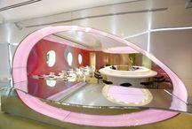 retro pink interior