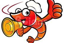 Vector Shrimp and Prawn Character / Boians Vector Shrimp and Prawn Character Design Series.