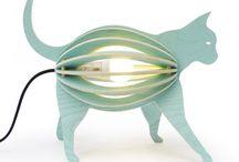 Boutique déco et Cadeaux / Lampe design chien Waaf, Pierre Stadelmann lampe design chat, Gone's, parfaite dans une chambre d'enfant