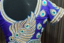 peacock feather back blouse