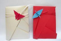 origami invitation card