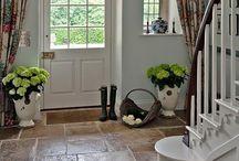 Kitchen flagstone floors