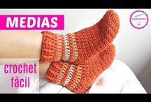 Horgolt zokni