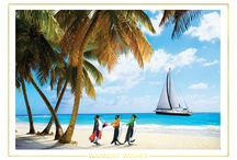 Coastal Island Beach Christmas Cards and Tropical Holiday Card Ideas / If you want to send warm wishes this holiday season, check out our fun line of coastal tropical beach and island theme Christmas cards! Business quality personalized greeting cards suitable for corporate to families.