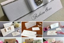 Wedding placenames and table settings