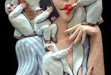 esculturas com papel machê