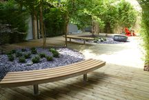 Johnson & Johnson Project (Maidenhead) / A pair of bespoke curved benches inspired by our standard Tree bench design.