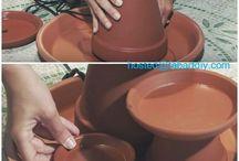 fuentes de agua con plantas
