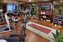 Basement workout room/Home Gym