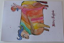placemats 3rd set / Andy Warhol drawings and watercolors