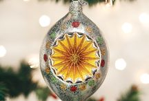 Vintage glass ornaments for christmas