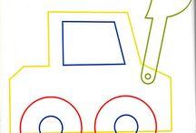 Medios de transporte y sus moldes / Manualidades y moldes de medios de transporte (coches, camiones, autobuses)
