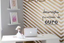 Home Office Modernos! / Veja + Inspirações e Dicas de decoração no blog!  www.construindominhacasaclean.com