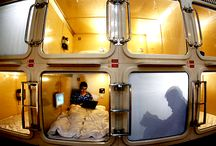 "It's just like being in a space ship! Popular with tourists, the ""Capsule Hotel""! / http://www.jnize.com/en/article/100000023/"