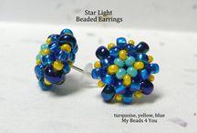 Beaded earrings - post earrings